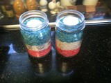 Last minute 4th of July centerpieces . . . from the kitchen