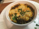 Lentil Shepherd's Pie vegetarian comfort food in a dish
