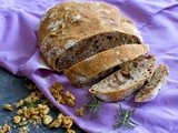 No-Knead Walnut-Rosemary Bread - easy, healthy