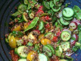 Packing for a picnic — Quinoa & Veggie Salad