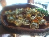 Party Fare—Fresh Spinach & Artichoke Filling in Crispy Wonton Cups