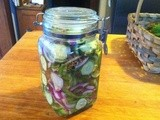 Pickled Cucumber Salad – it lasts all summer