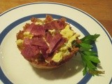 Potato Cups . . . filled with scrambled eggs