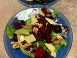 Roasted Beet Salad w/ Cottonwood River Reserve Cheese from Wiebe Dairy