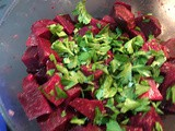 Roasted Beet Salad with Blue Cheese & Pine Nuts + Apple Cider Vinaigrette