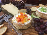Savory Santa Fe Cheesecake perfect as an appetizer