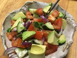 Simple, refreshing - Tomato, Cucumber & Avocado Salad