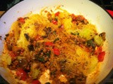 Spaghetti Squash with Sausage & Veggies