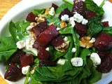 Spinach & Roasted Beet Salad perfect for Fall