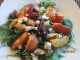 Summertime means Peaches! Summertime Peach & Chicken Salad