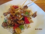 Sweet & Sour Pork  . . . as good as take out without the breading and deep fat frying