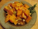 This makes us want to eat healthy -- Butternut Squash with Leeks