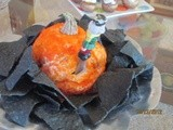Trick or Treat  Nacho Pumpkin-shaped Cheese Ball