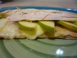 Individual Turkey, Apple & Brie Flat Breads