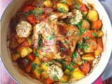 One Pot Roast Chicken and Vegetables