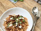 Roasted Eggplant and Garlic Pasta with Labneh