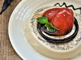 A Two in One Dessert:Vanilla Panna Cotta With Plums-Chilly Sorbet