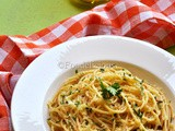 Spaghetti Aglio e Olio or Pasta with Garlic & Oil; Light Meal On Mondays; Stepwise