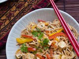 Spicy Soba Noodles & Tofu Salad In Peanut Butter-Basil Dressing;Maharaja Whiteline TurboMix Hand Blender's Review; Light Meal On Monday; Step Wise