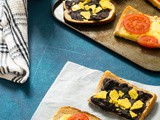 Cheese Tomato & Black Bean Toast