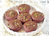 Double Chocolate Pumpkin Seed Muffins