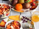 Fruit Salad with Orange Vanilla Syrup