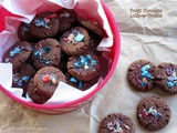 Fudgy Chocolate Candy Cookies
