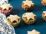 Individual Christmas Fruit Cake with Marzipan Stars