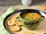 Roasted Bell Pepper Flax Seeds Soup