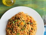 Roasted Bell Peppers Angel Hair Pasta