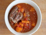 Short rib, carrot, and tomato stew
