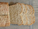 Whole Wheat Sesame-Topped Loaf - with Freshly Milled Flour #Mockmill