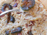 Baked breakfast oats with apples and figs