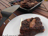 Brownies with Strawberry Jam and Easter chocolates