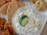 Cool yogurt sauce with cucumber