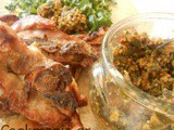 Lamb Chops and tapenade with Sun-dried tomatoes and caper leaves