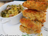 Leek croquettes with Gruyere