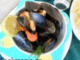 Mussels steamed with beer