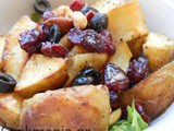 Roasted potato salad with orange dressing