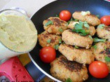 Soya cutlets with Avocado Mayonnaise