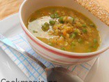 Split pea soup with vegetables