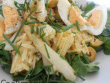 Spring orzo dish with Easter eggs