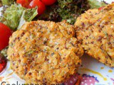 Sweet potatoes Patties with chickpeas and quinoa