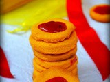 Eggless jam cookies / eggless thumbprint cookies recipe