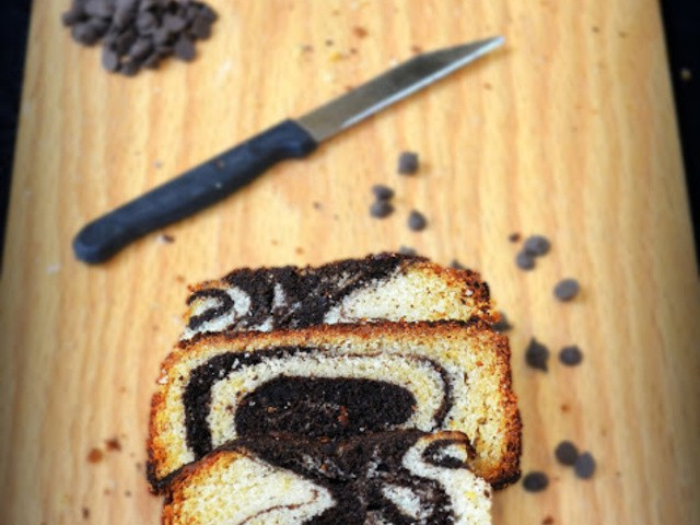 Chocolate yellow marble cake recipe