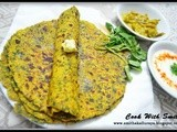 Methi thepla / spiced flatbreads with fenugreek leaves