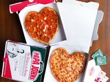Papa john's valentines day special - heart shaped pizza