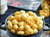 Roasted makhana / roasted puffed lotus seeds ( fox nuts )