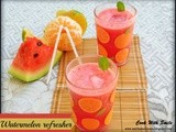 Watermelon refresher / watermelon and orange juice - summer cooler
