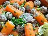 Carrot dolma - Stuffed carrots with meat and peas